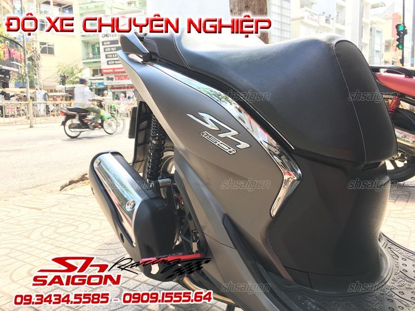 Xe Sh việt nam 2017 2018 lắp Combo bộ ốp sườn sh300i và kính chắn gió