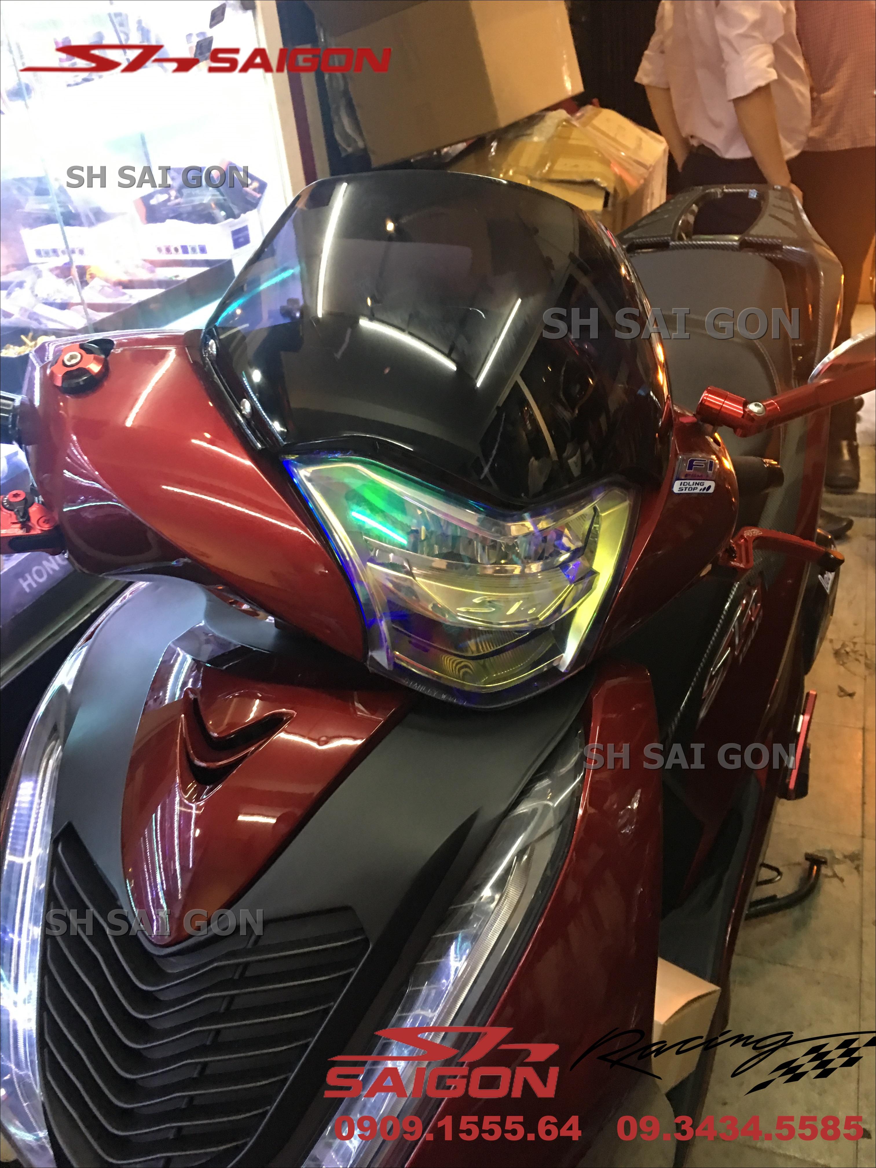 Photo xe SH VN 2017 2018 2019 gắn kính chắn gió uy tín giá tốt tại Sài Gòn
